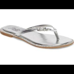 New Jewel Badgley Mischka Thalia Crystal Flip Flop